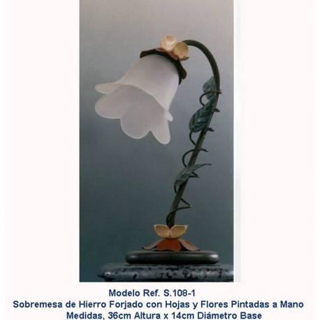 Lampade da tavolo lampada in ferro battuto. Forgiatura, S-108-1 desktop. Bianco