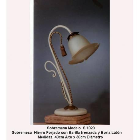 Sobremesas lampara de Forja. Sobremesas Forja, S1020. dormitorio