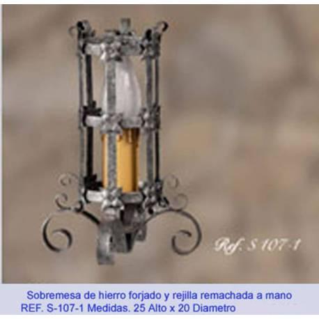 Sobremesas lampara de Forja. hecho a mano. rústico