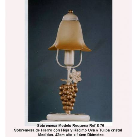 Lâmpadas de tabela de lâmpada de ferro forjado. Forjamento, forjamento desktops desktops rústico. S 76-1