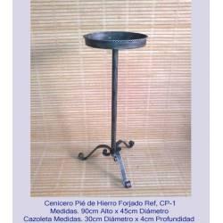 Desktop di posacenere in ferro battuto. Lampade da tavolo rustico di pezzo fucinato