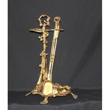 Opera in bronzo. Camino di poker bronzo, assemblato a mano. Madrid. modello Regina Isabella