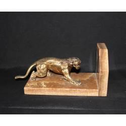 Escultura de bronce. Sujeta libros pantera en bronce. barcelona. comprar. regalo. diseño