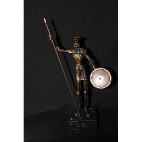 Scultura in bronzo. Don Chisciotte di bronzo. intagliato e assemblato a mano. progettazione