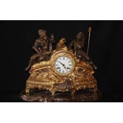 Bronze Uhr. Krieger. Handgemachte