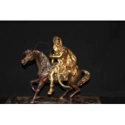 Figur aus Bronze. Maurische Messing-Gruppe. handgefertigt