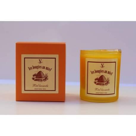 Velas aromáticas, colección miel lavanda. modelo reina isabel