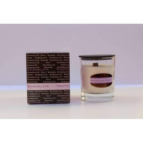 Velas perfumadas, chocolate truffe, coleção de vela perfumada
