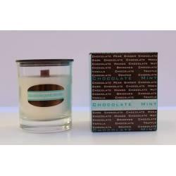 Menta di candele profumate, cioccolato, collezione di candele aromatiche