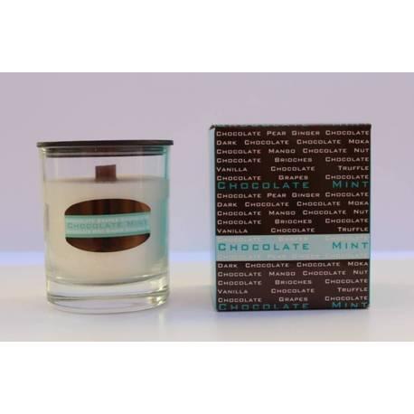 Menta de velas perfumadas, chocolate, coleção de velas aromáticas
