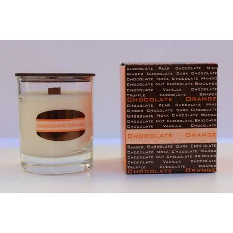 Chocolat orange bonheur chocolat, collection des bougies aromatiques