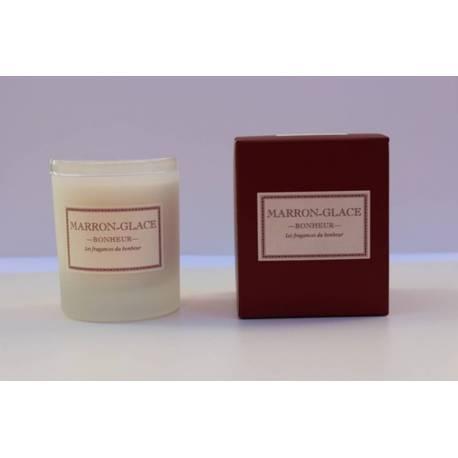 Candele profumate, marrone cioccolato collezione glace bonheur, candele profumate. fatto a mano