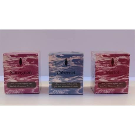 Velas aromáticas, colección savignon cabernet merlot , velas aromáticas