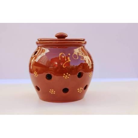 Pot ail artisan. vernis. fait à la main