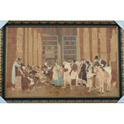 Marquetry painting. handmade. Court of the waters. big size