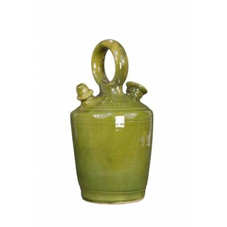Botijo artesano corcho en barniz . hecho a mano. agua fresca