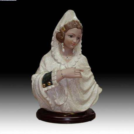 Porcelain figurines. Faller Bust Large blanket with stand, limited edition