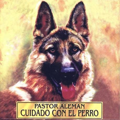 Con piastrelle di ceramica il mio cane. Cane di pastore tedesco. fatto a mano