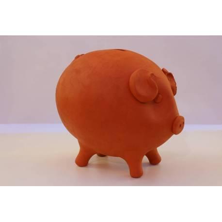 Porquinho porquinho vermelho artesanal. grande. comprar valencia