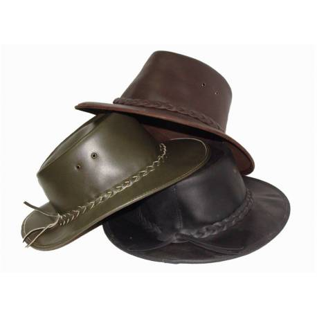 sombrero de cuero. hecho a mano. clásico. tradicional. artesanal