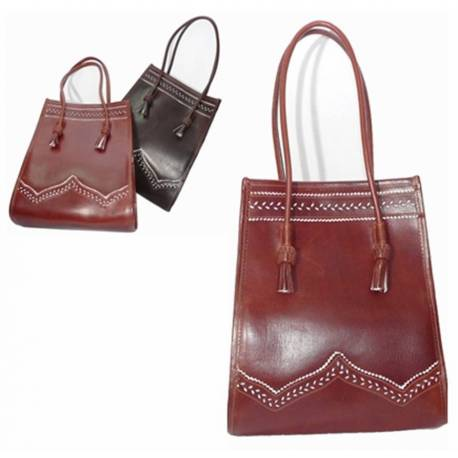 Tote bag in leather. handmade. Classic fashion. buy. limited series