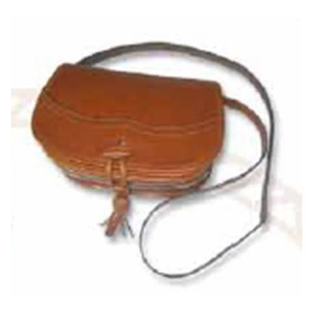 Bolso tipo bandolera en cuero. marron claro. hecho a mano. moda clásica. comprar. serie limitada