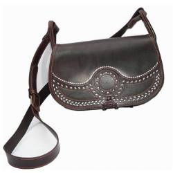 Shoulder bag in leather. dark. handmade. Classic fashion. buy. limited series