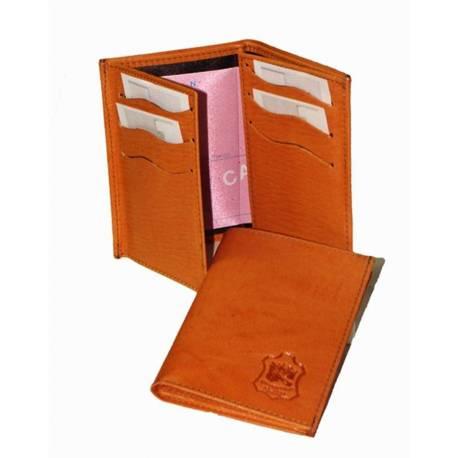Cartera billetero de caballero en piel. hecho a mano. moda vintage. regalo. serie limitada