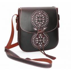 Classic bag in leather. elegant. handmade. vintage design. buy. exclusivity