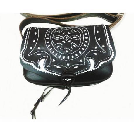 8557d6983 Bolsa de couro da Amazônia. resistente. feito à mão. projeto vintage. Trate