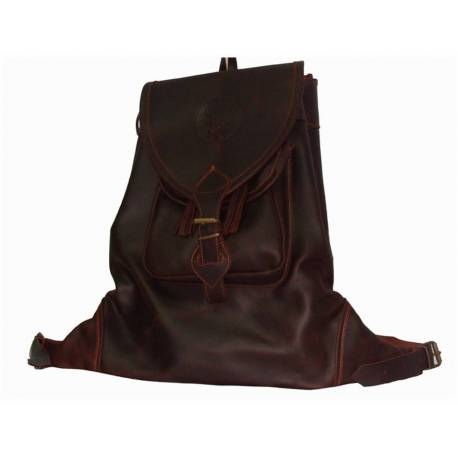 Backpack. Dark leather pouch. handmade. hunting classic. gift. exclusive series