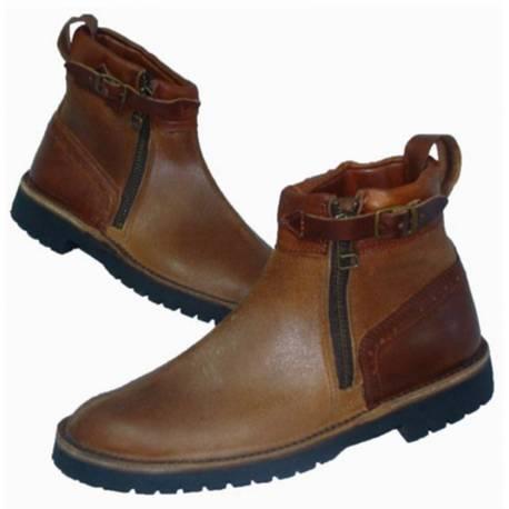 rustikale Stiefel. aus Leder natürliche. Klassiker. handgemacht. Vintage-Design. kaufen. Exklusivitat