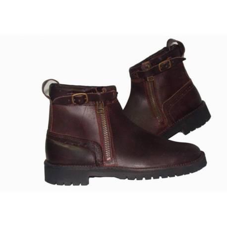 rustikale Stiefel. aus Leder Dunkelheit. Klassiker. handgemacht. Vintage-Design. kaufen. Exklusivitat