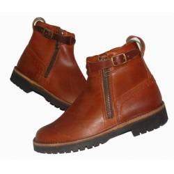 rustic boots. in leather. Classic. handmade. vintage design. exclusivity