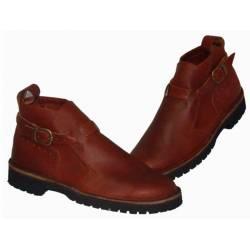 botas de tornozelo com fivela. couro natural. feito à mão. projeto vintage. exclusividade