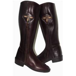 Cowboy boots with footrope. in leather. Classic. handmade. vintage design. buy. exclusivity