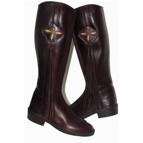 Botas de cowboy com footrope. em couro. Clássico. feito à mão. projeto vintage. Compro. exclusividade