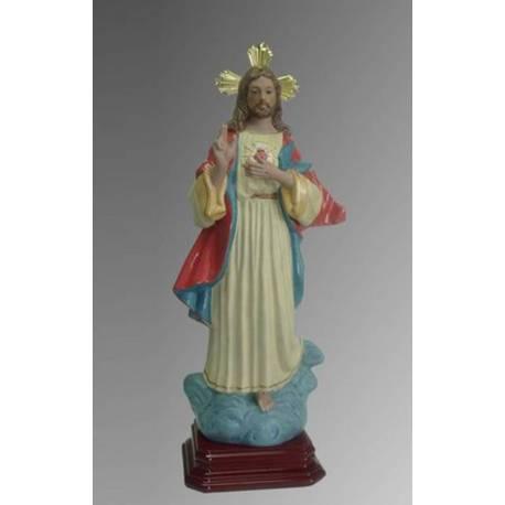 Figura porcelana corazon de jesus. jesucristo. hecho a mano, comprar. imagineria religiosa