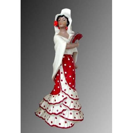 Figuras de porcelana. dançarino. mantilha e castanholas. flamenco. série limitada. Sevilha