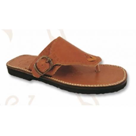sandali di cuoio fibbia. fatto a mano. design vintage. comprare. milan esclusività