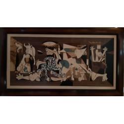 Cuadro de marquetería. Guernica de Picasso