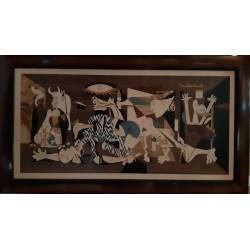 Marquetry painting. Guernica by Picasso