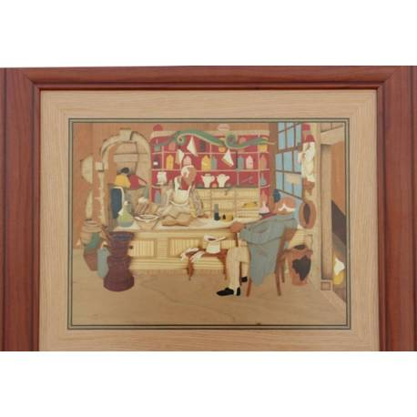 Marquetry Painting . Pharmacy